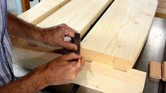 Diy Como hacer una cama de dos plazas de madera pino fácil de hacer Bed Dimensions, Wood, Wood Projects, Bed Making, Full Beds, Cots, Pine, Bed Ideas