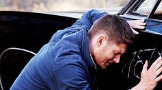 """His face.  His hands.  My heart. I can't help but wonder if he feels like even Baby gets hurts """"because"""" of him... #SPN  9.16  Blade Runners ugh... More feels."""