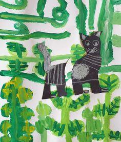 Kočka na louce. Práce předškoláků našeho výtvarného studia. Studios, Zero, Night, Artwork, Painting, Work Of Art, Auguste Rodin Artwork, Painting Art, Artworks
