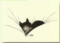 Cats in Art & Illustration: Albert Dubout Crazy Cat Lady, Crazy Cats, I Love Cats, Cute Cats, Albert Dubout, Gatos Cats, Photo Chat, All About Cats, Cat Drawing