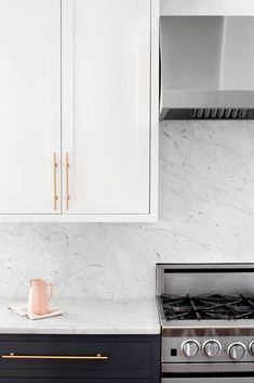 marble counters + backsplash