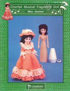 1990 Crochet Musical Fragrance doll Miss Desiree by TD by NookCove, $5.99  designed to cover the cone-shaped Renuzit Air Freshener