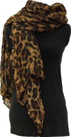 Brun foncé léopard écharpe. Grand doux surdimensionné écharpe de mode pour  dames (Dark brownLeopard 822d584342c