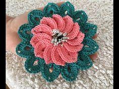Crocheted motif no 43 - YouTube