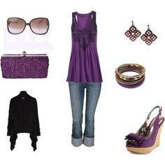 Purple!! :D, created by whitnie-evans on Polyvore