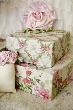 Jennelise: Beautiful floral boxes~❥