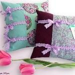 Tutorial: Throw pillow with ruffled side ties