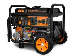 WEN Portable Hybrid Dual Fuel Gas Electric Start Generator w/ Wheel Kit Portable Electric Generator, Dual Fuel Generator, Propane Generator, Inverter Generator, Generators, Transfer Switch, Sump Pump, Fuel Gas, Honda
