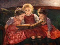 Walter Firle (1859-1929) Tres niñas