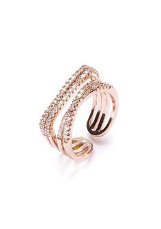 Rose Gold Glamour Band Ring #fashion #rosegold #glam #statementring #rings - 18,90  @happinessboutique.com
