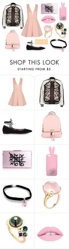 """Feeling Girly"" by elizz-denne on Polyvore featuring River Island, Gianvito Rossi, MICHAEL Michael Kors, xO Design, Miss Selfridge, Goshwara, BIBI VAN DER VELDEN, backpacks, contestentry and PVStyleInsiderContest"