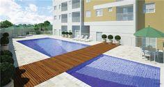 Perspectiva artística da piscina - City Life (São José dos Campos - SP)