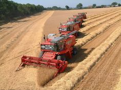 Combines-1. When we think agriculture today we think dependence on BIG ...