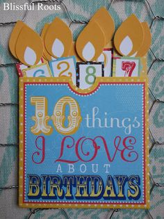 BLISSFUL ROOTS: Birthday Memory Board Close Up