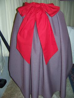 Civil War Dickens costume Long Drawstring Skirt by civilwarlady