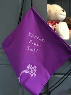 Personalised Swimming Kit Bag Double Sided by FarrahandLouise