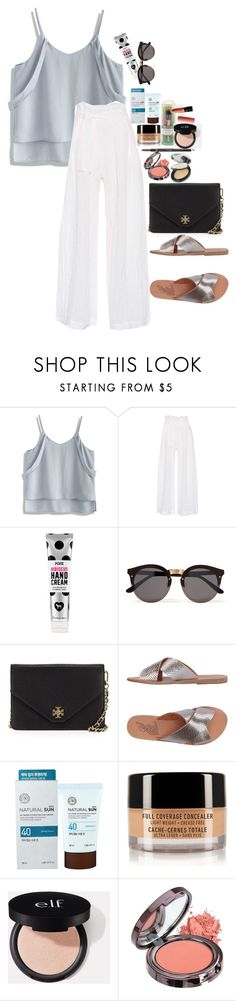 """""""Untitled #4684"""" by veronicaptr ❤ liked on Polyvore featuring Chicwish, Three Graces, Illesteva, Tory Burch, Ancient Greek Sandals, The Face Shop and NYX"""