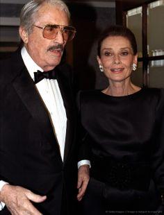 Gregory Peck with Audrey Hepburn attending the Metropolitan