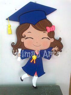 Diseño Graduation Yard Signs, Diy Graduation Gifts, Graduation Party Planning, Graduation Decorations, School Decorations, Foam Sheet Crafts, Foam Crafts, Arabic Alphabet For Kids, Kindergarten Graduation
