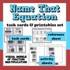This task cards & printables set will help your students practice examining a grid model of fraction multiplication and identifying equations represented by the model. Math Fractions, Multiplication, Maths, Common Core Math, Common Core Standards, Fifth Grade Math, Second Grade, Math Lab, Daily 5 Math