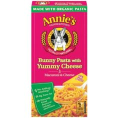 Annie's Bunny Pasta with Cheese