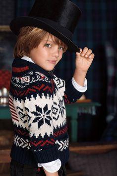 RL Niños: vacaciones Vestir suéteres Fair Isle-vintage inspirado le permitió vestir para arriba como papá esta temporada de vacaciones Tienda las miradas