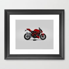 Ducati Framed Art Print by Yaeln - $34.00