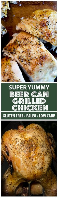 If youre looking for a super easy but incredibly delicious beer can chicken recipe, youve found it. 4 Ingredients and almost no prep time is the perfect equation for a simply delicious grilled chicken. Can Chicken Recipes, Beer Can Chicken, Chicken With Olives, Canned Chicken, Yum Yum Chicken, Turkey Recipes, Grilled Chicken, Whole Food Recipes, Dinner Recipes