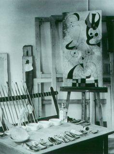 Brassaï - Joan Miro's painting tools, 1955.