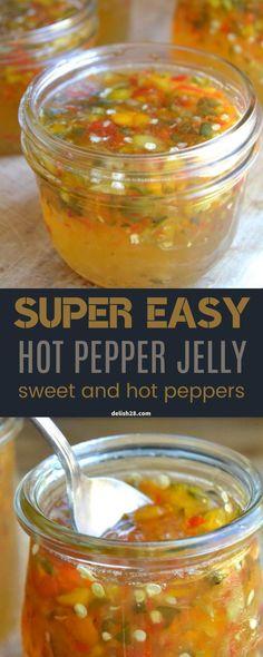SUPER EASY HOT PEPPER JELLY