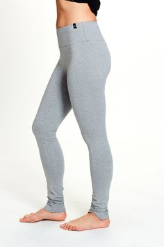 793420b62ce Women s Anya Legging in Gray by SATVA. A hugged fit with curved side seams  for an updated look. Made of a GOTS certified organic cotton and lycra  blend.