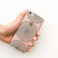 Steph Okits X Milkyway Cases 'Dots & Mandala' - Clear TPU Case Cover