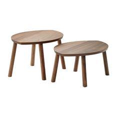 IKEA Tables basses gigognes Stockholm IKEA Tables basses en panneau de fibres de bois plaqué noyer, pieds en noyer massif- IKEA #oupeutêtrecellelà