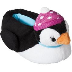 Nick & Nora® Women's Penguin Slipper - Black/White ($17) ❤ liked on Polyvore