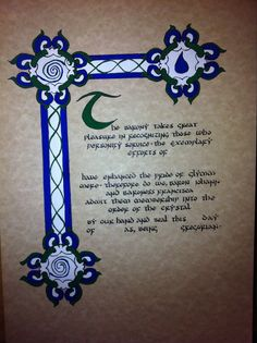 My first scribal work (from Tracey Quirk)