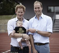 Royal Beams With Pride as He Cradles a Baby at Invictus Games Trials With Prince William Prince Harry, Prince William, Invictus Games