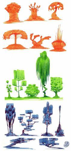 2D Bean artblog- Concept art, visual Development, Doodles, and Illustrations of Brett Bean: Environments: