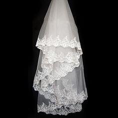 >> Click to Buy << Colour Bride Laciness Applique 3 Meters Vintage Veil long Bridal Veil Ivory #Affiliate