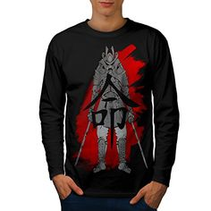 Japanese Warrior Men NEW L Long Sleeve Tshirt  Wellcoda -- Find out more about the great product at the image link.