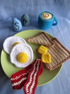 Breakfast Amigurumi Crochet Pattern PDf by Janagurumi on Etsy