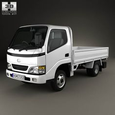 Toyota ToyoAce Flatbed 2006 3d model from humster3d.com. Price: $75