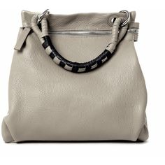 Lucque - Metro Light Grey ($346) ❤ liked on Polyvore featuring bags, handbags, purses, vintage leather handbags, vintage handbags purses, leather crossbody purse, handbags purses and vintage purse