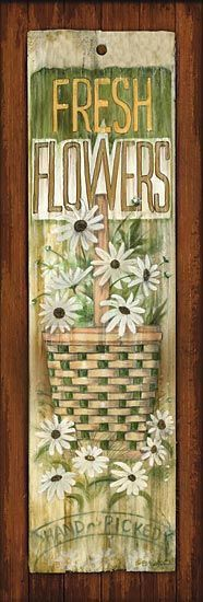 Fresh Flowers Print Plaque