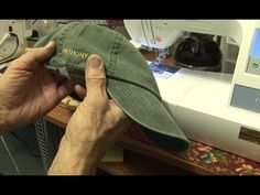 Hooping Hats on a single needle embroidery machine - YouTube