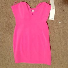 Hot pink, strapless party dress! Good for any night Tobi Dresses Mini