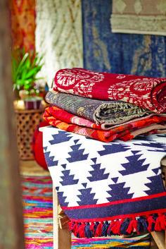 New Desert Caravan Collection featuring Cost Plus World Market's Black and White Kaia Flatweave Wool Area Rug >> #WorldMarket Home Decor Ideas
