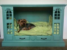 Vintage TV turned into dog bed!