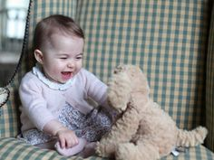 HRH Princess Charlotte Elizabeth Diana Of Cambridge (Aged 6 Months) - Photos Taken By Her Mother, HRH Catherine, Duchess Of Cambridge - (Note From Gwyn - She Is Just SO Gorgeous! What A Perfect Little Doll!)