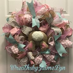 A personal favorite from my Etsy shop https://www.etsy.com/listing/504614638/easter-bunny-bum-wreath