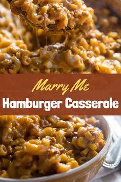 Hamburger Meat Casseroles, Beef Casserole Recipes, Meat Recipes, Cooking Recipes, Macaroni Hamburger Casserole, Goulash Recipes, Recipies, Ground Beef Recipes For Dinner, Dinner With Ground Beef